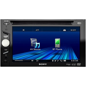 "Sony XAV-64BT - 6.1"" Double Din CD, DVD, USB, iPHONE, BLUETOOTH"